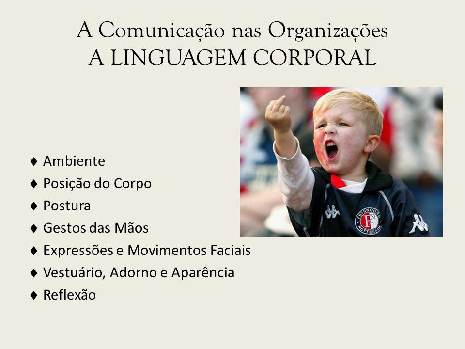 A Comunicação nas Organizações A LINGUAGEM CORPORAL