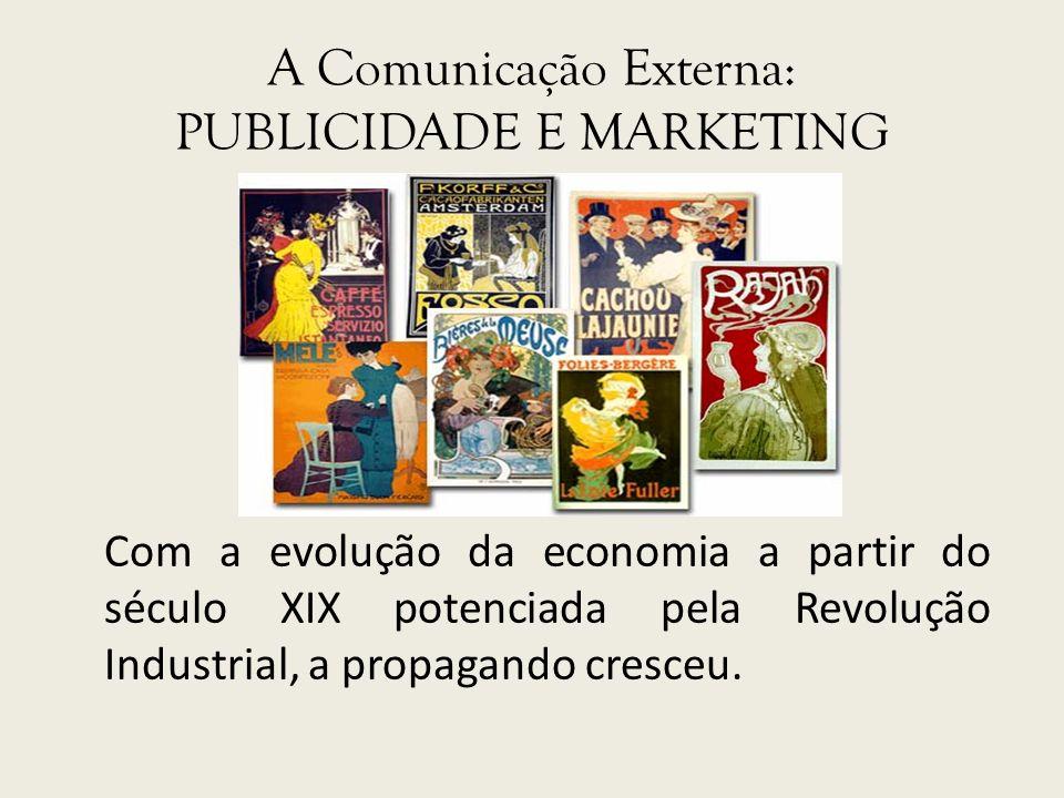 A Comunicação Externa: PUBLICIDADE E MARKETING
