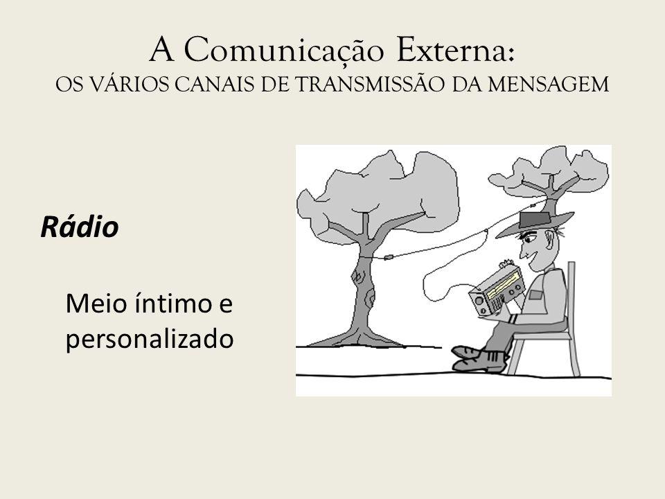 A Comunicação Externa: OS VÁRIOS CANAIS DE TRANSMISSÃO DA MENSAGEM