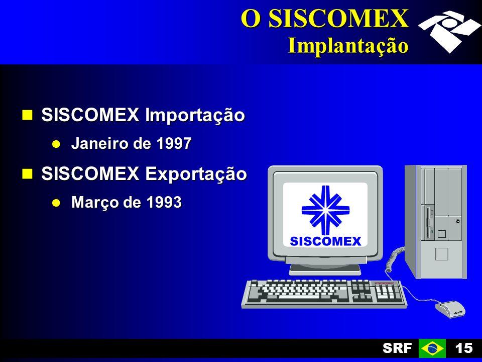O SISCOMEX Implantação