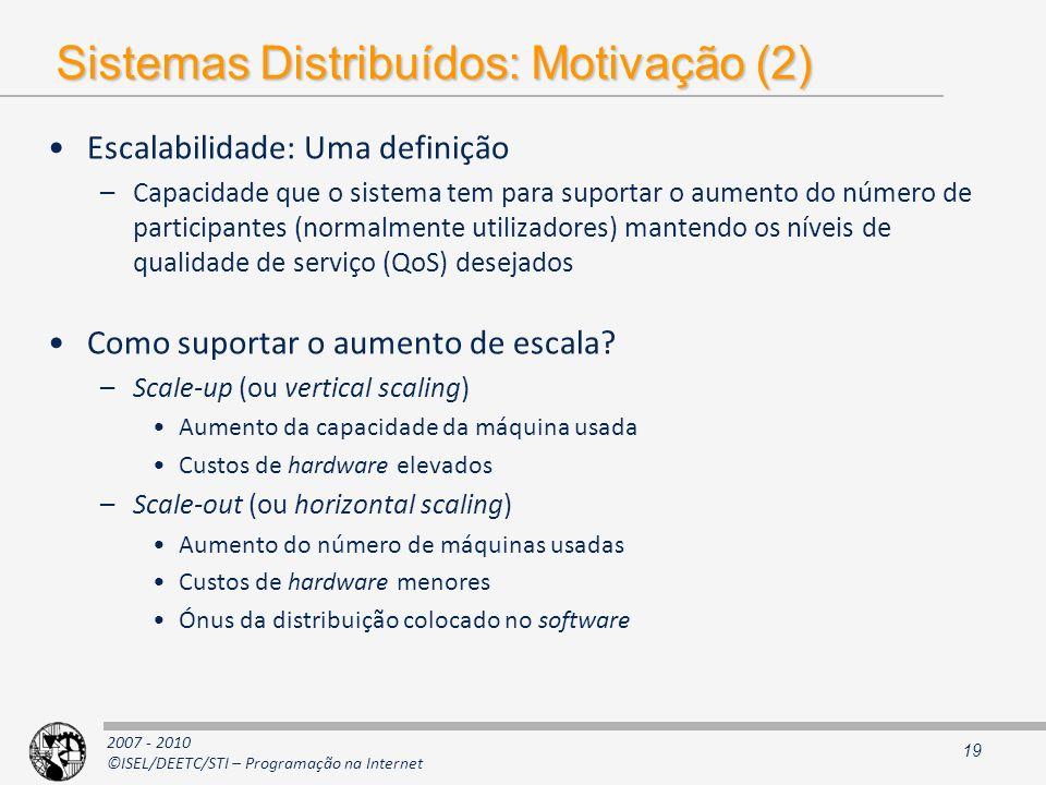 Sistemas Distribuídos: Motivação (2)