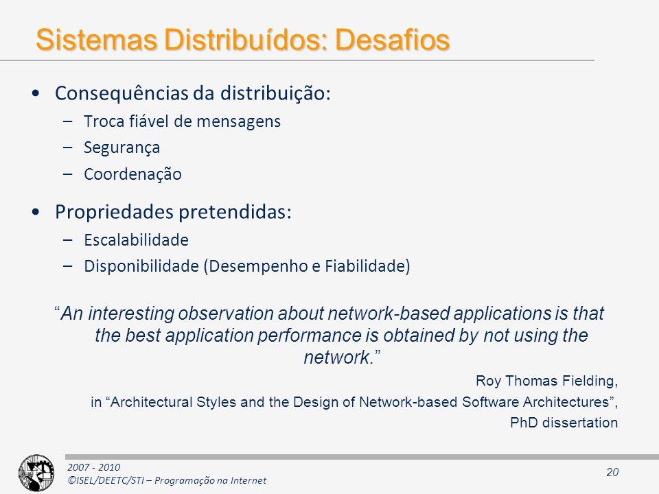 Sistemas Distribuídos: Desafios