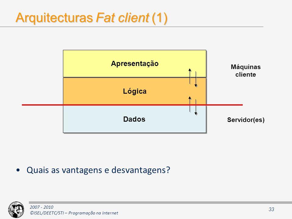 Arquitecturas Fat client (1)