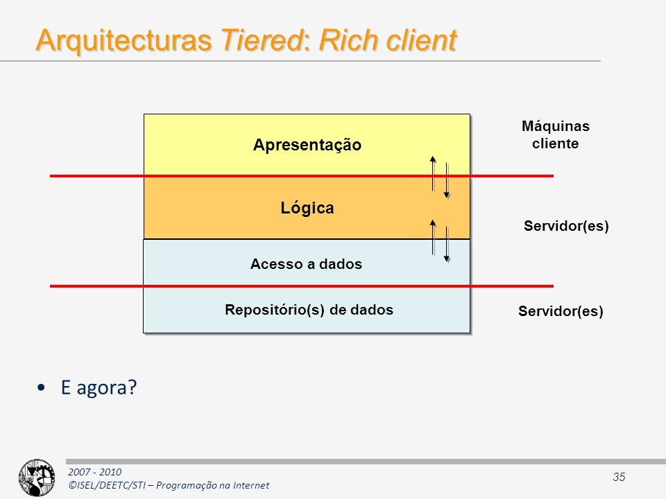 Arquitecturas Tiered: Rich client