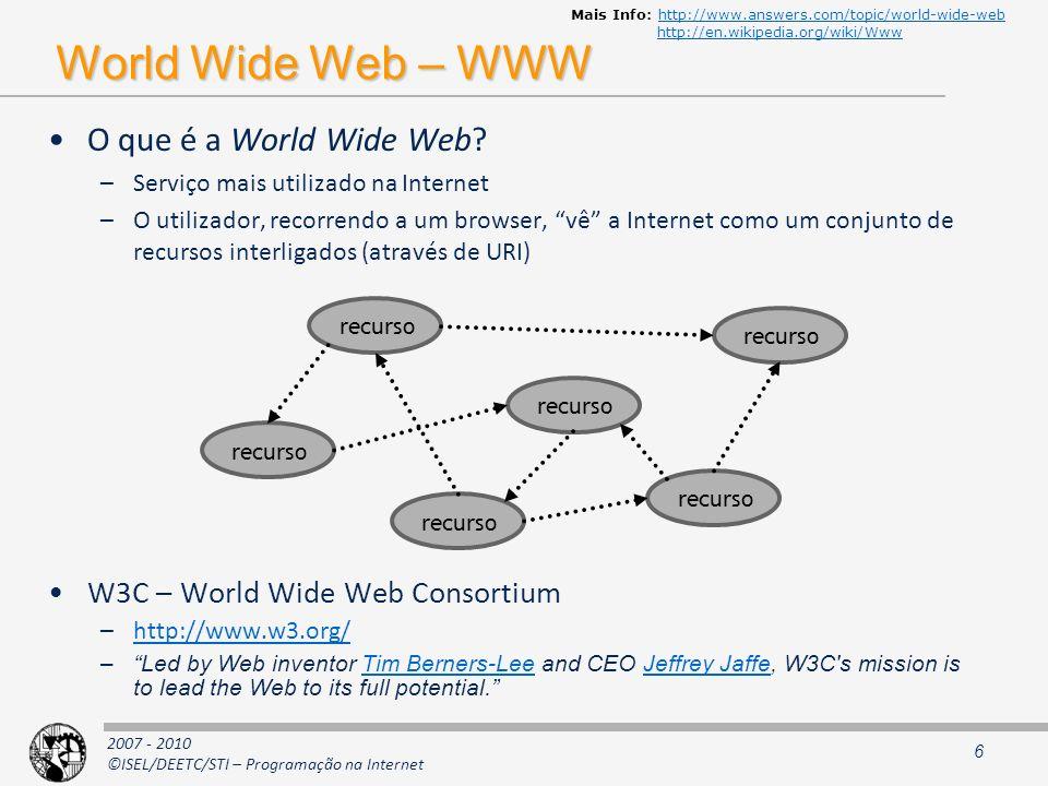 Tecnologias de Internet