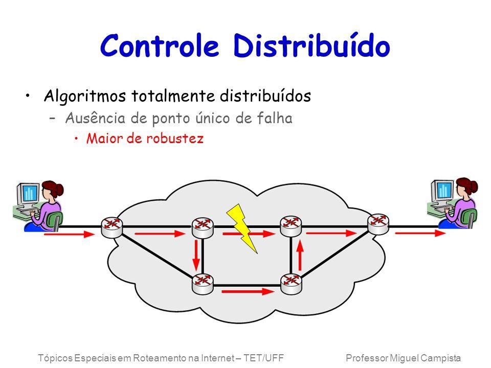 Controle Distribuído Algoritmos totalmente distribuídos
