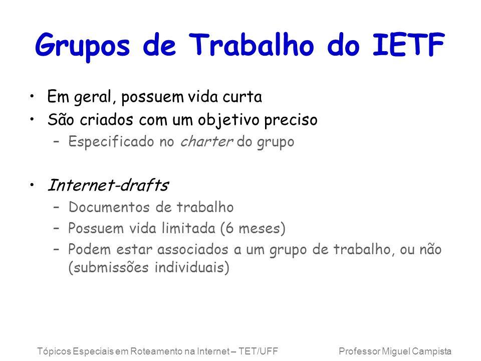 Grupos de Trabalho do IETF