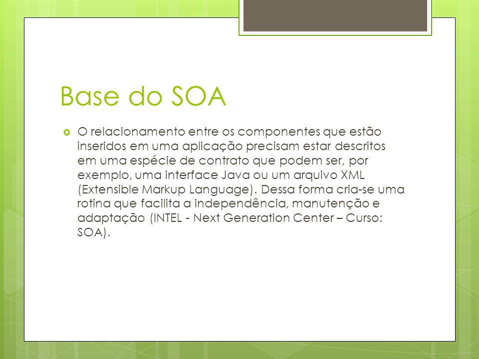Base do SOA
