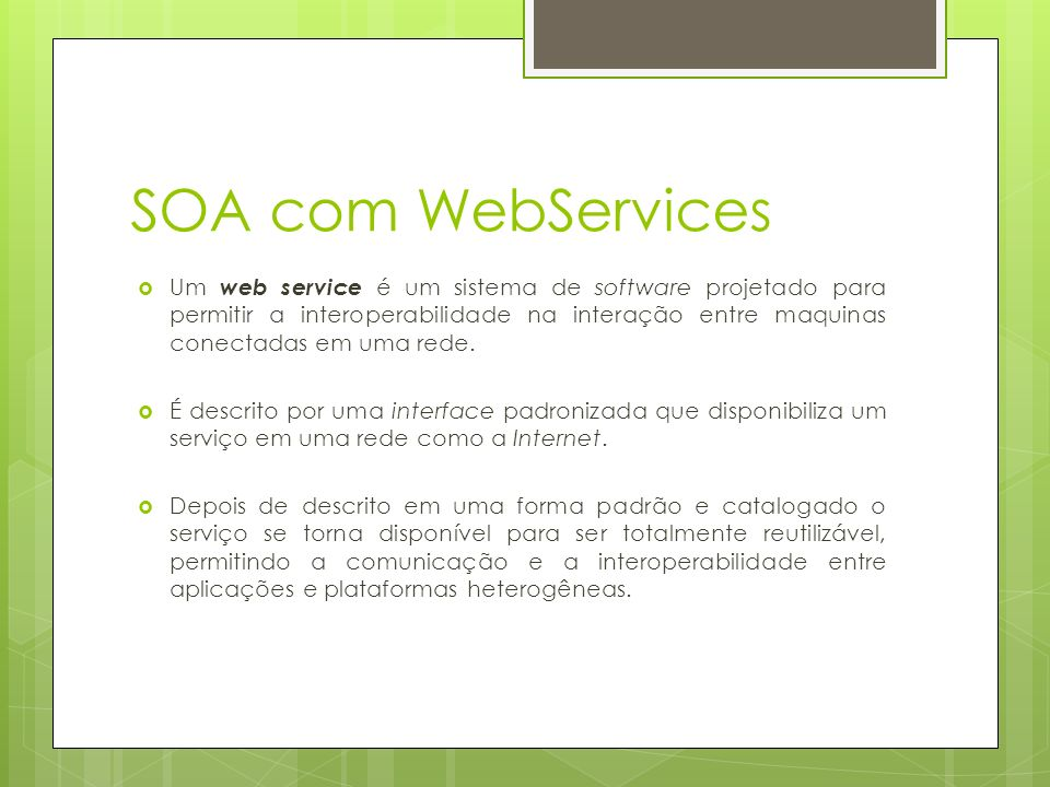 SOA com WebServices