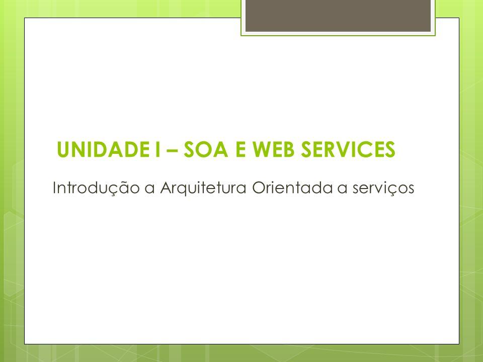 UNIDADE I – SOA E WEB SERVICES
