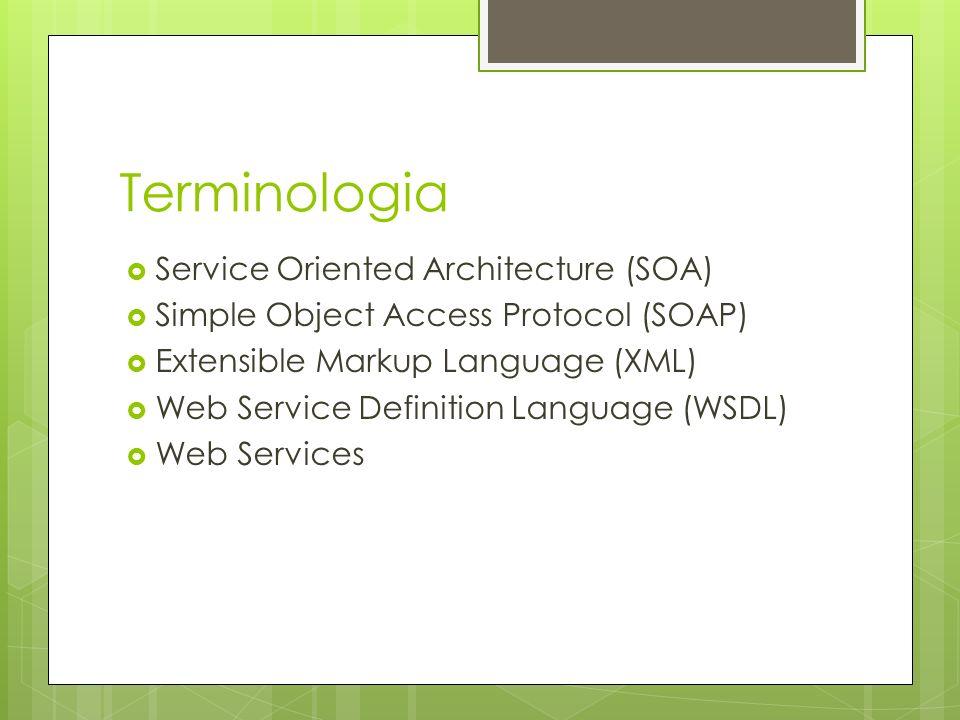Terminologia Service Oriented Architecture (SOA)
