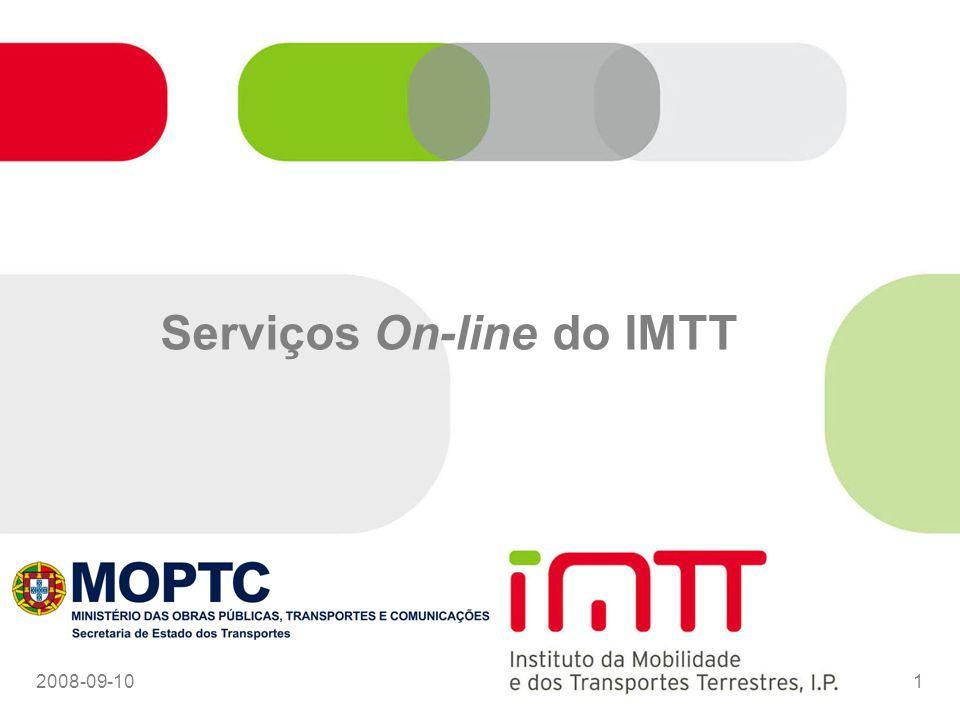 Serviços On-line do IMTT