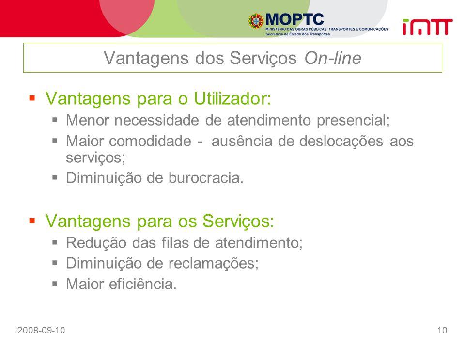 Vantagens dos Serviços On-line