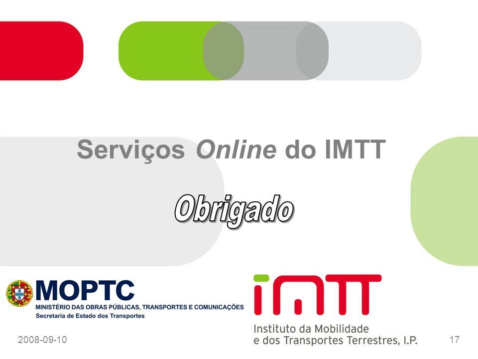 Serviços Online do IMTT