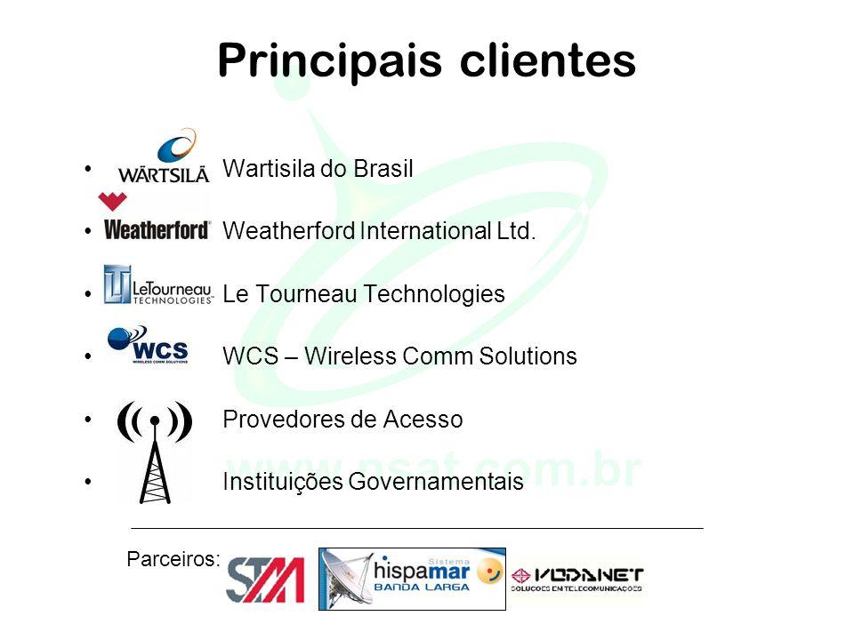 Principais clientes • Wartisila do Brasil