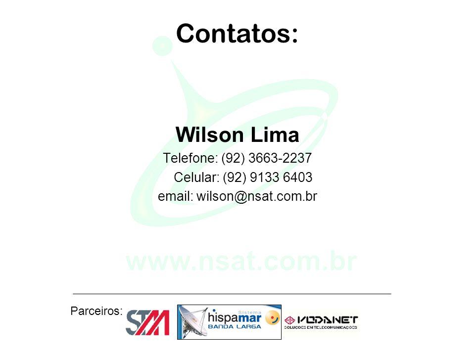 Contatos: Wilson Lima Telefone: (92) 3663-2237 Celular: (92) 9133 6403