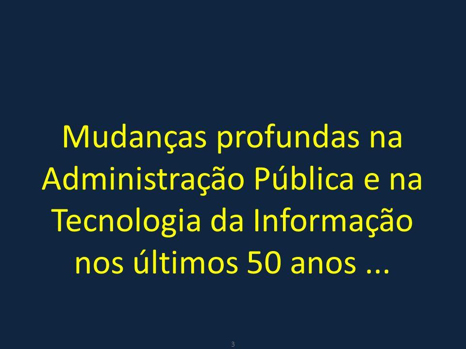 Mudanças profundas na Administração Pública e na Tecnologia da Informação nos últimos 50 anos ...