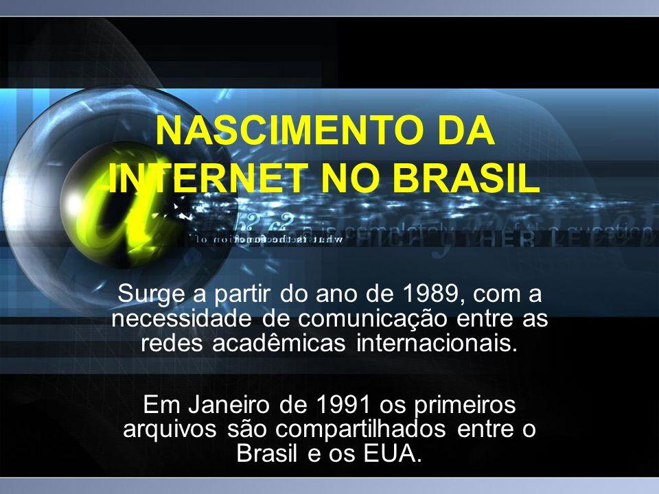 NASCIMENTO DA INTERNET NO BRASIL