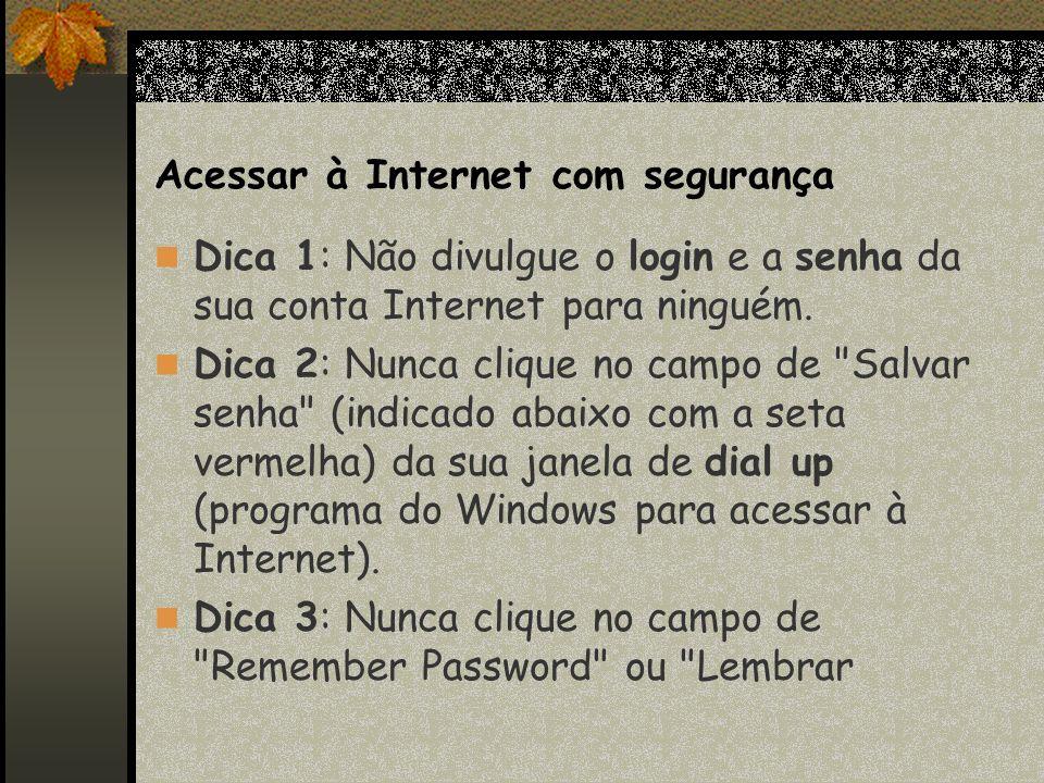Acessar à Internet com segurança