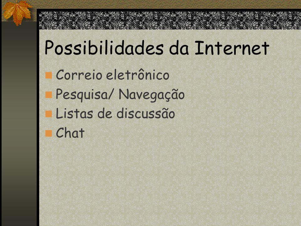Possibilidades da Internet