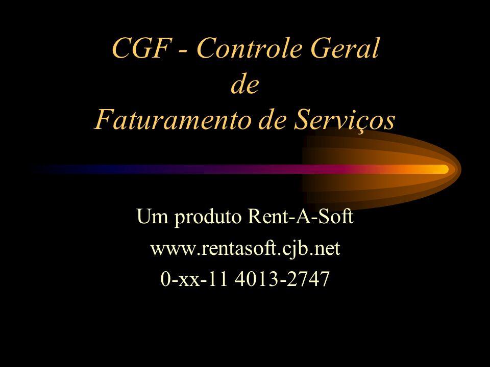 CGF - Controle Geral de Faturamento de Serviços