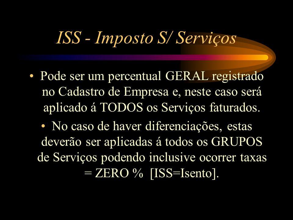 ISS - Imposto S/ Serviços