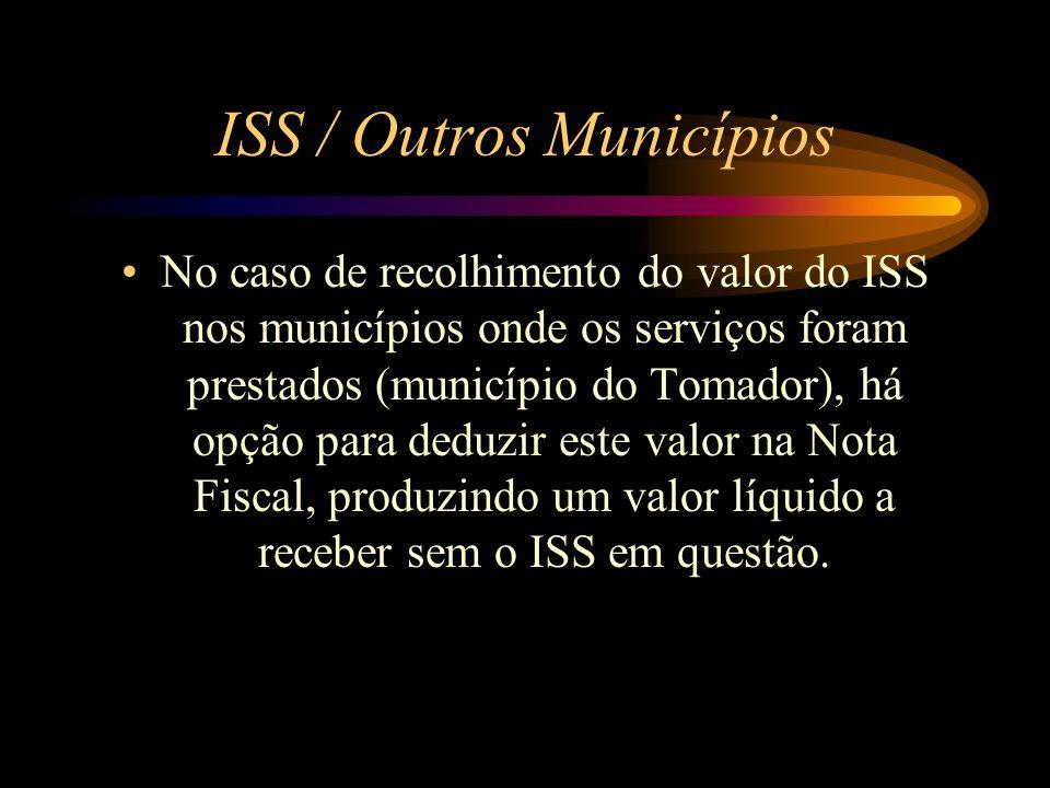 ISS / Outros Municípios