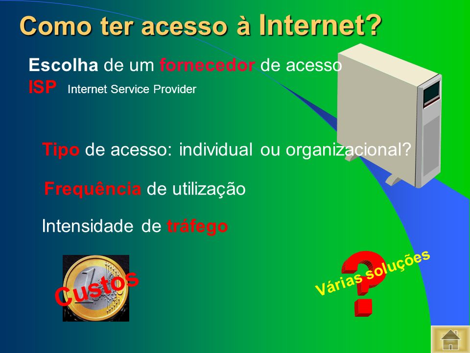 Como ter acesso à Internet