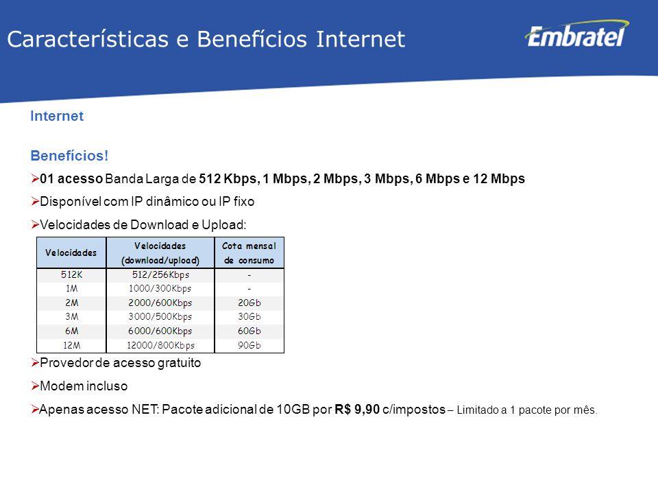 Características e Benefícios Internet