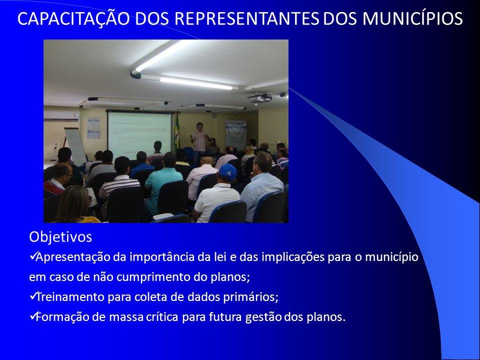 CAPACITAÇÃO DOS REPRESENTANTES DOS MUNICÍPIOS