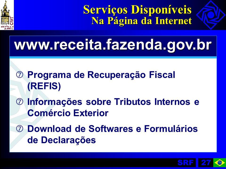 Serviços Disponíveis Na Página da Internet