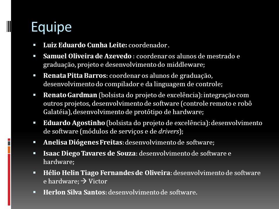 Equipe Luiz Eduardo Cunha Leite: coordenador .