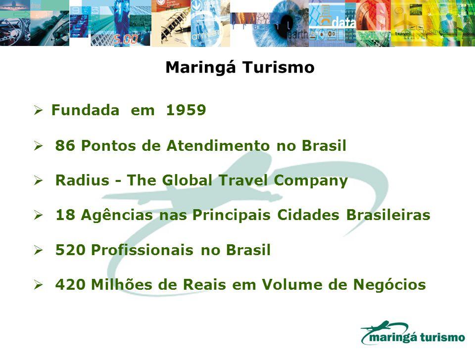 Maringá Turismo Fundada em 1959 86 Pontos de Atendimento no Brasil
