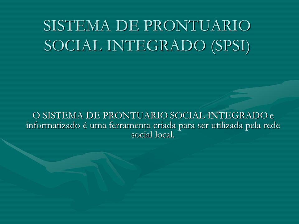 SISTEMA DE PRONTUARIO SOCIAL INTEGRADO (SPSI)