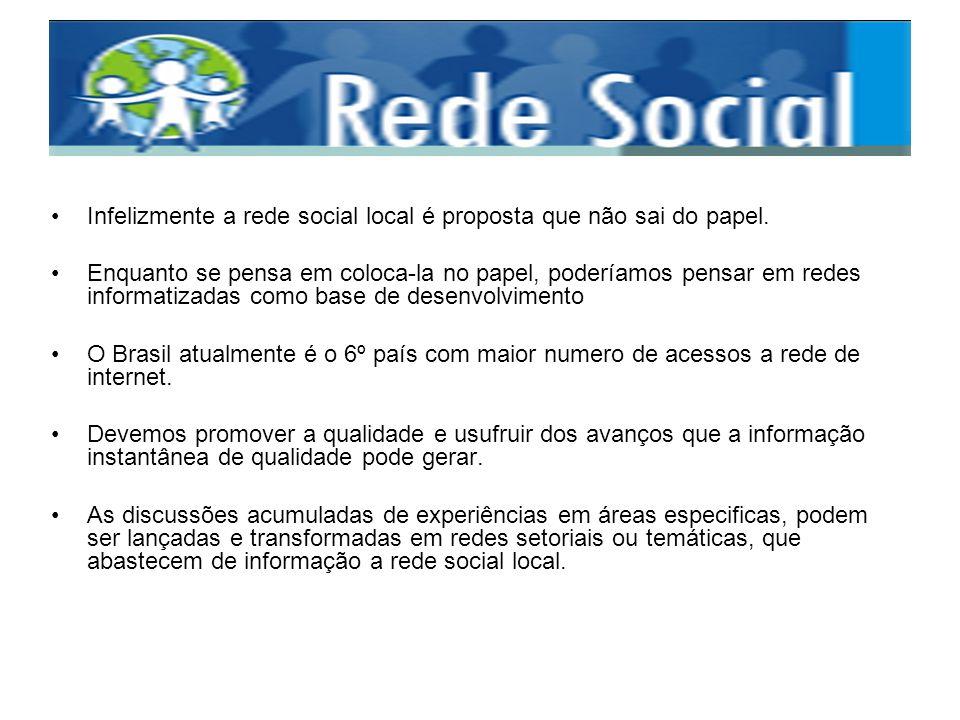 Infelizmente a rede social local é proposta que não sai do papel.