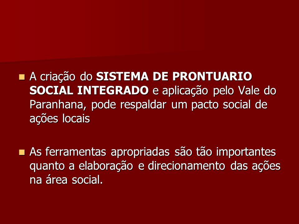 A criação do SISTEMA DE PRONTUARIO SOCIAL INTEGRADO e aplicação pelo Vale do Paranhana, pode respaldar um pacto social de ações locais