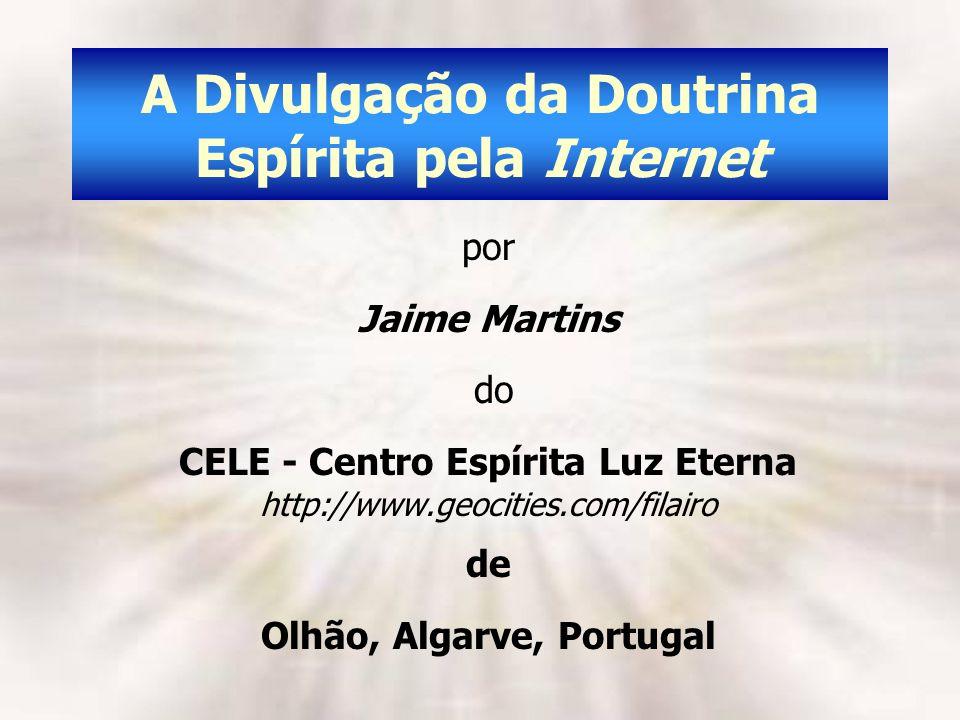 A Divulgação da Doutrina Espírita pela Internet