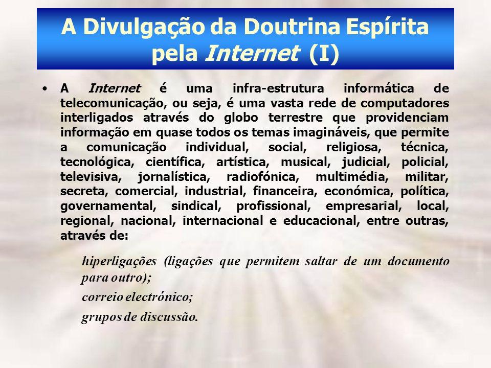 A Divulgação da Doutrina Espírita pela Internet (I)