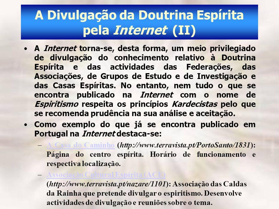 A Divulgação da Doutrina Espírita pela Internet (II)