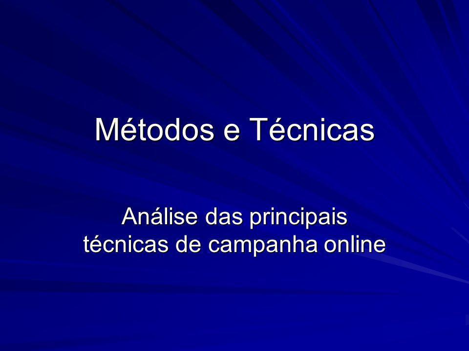 Análise das principais técnicas de campanha online