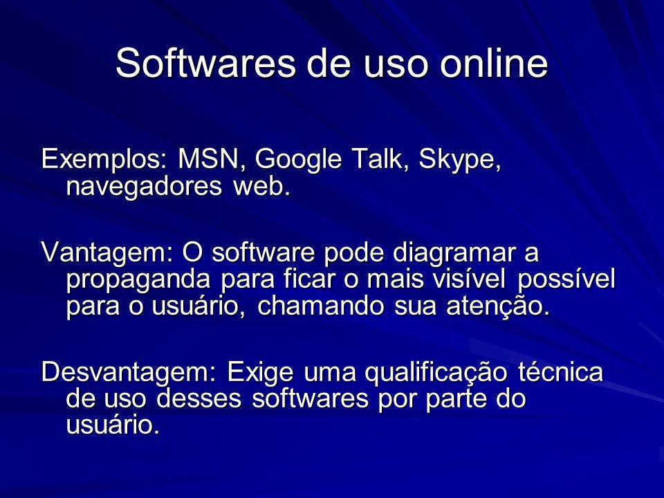Softwares de uso online