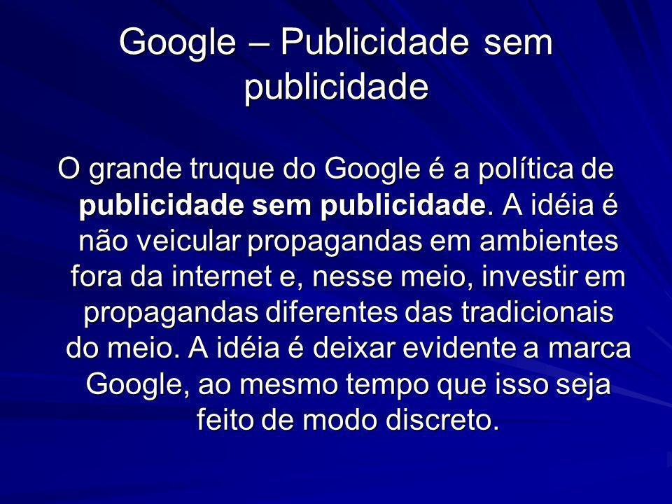 Google – Publicidade sem publicidade
