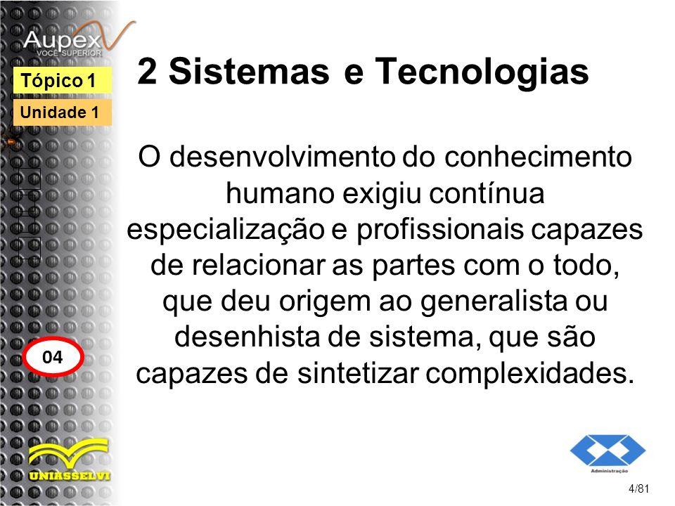 2 Sistemas e Tecnologias