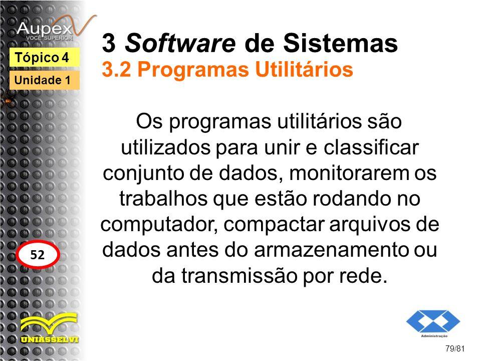 3 Software de Sistemas 3.2 Programas Utilitários