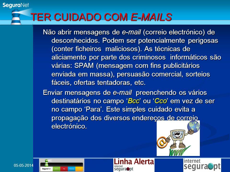 TER CUIDADO COM E-MAILS