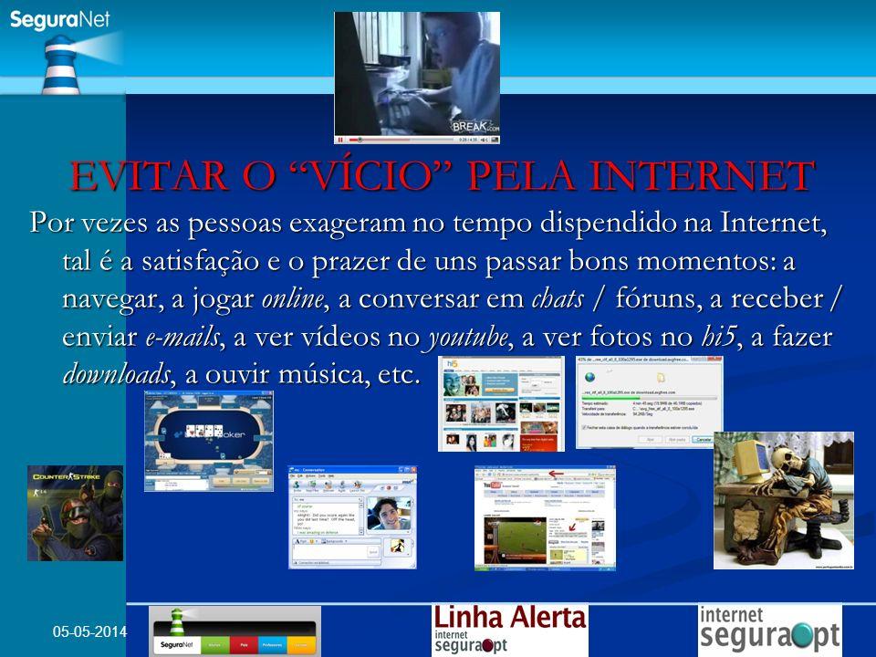 EVITAR O VÍCIO PELA INTERNET