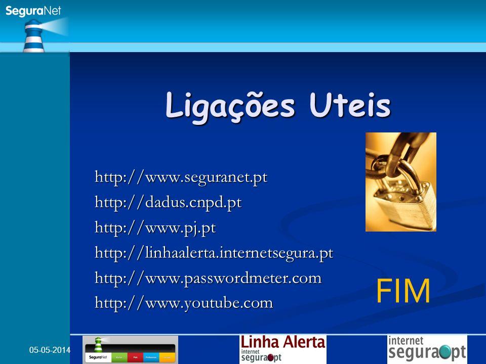 FIM Ligações Uteis http://www.seguranet.pt http://dadus.cnpd.pt