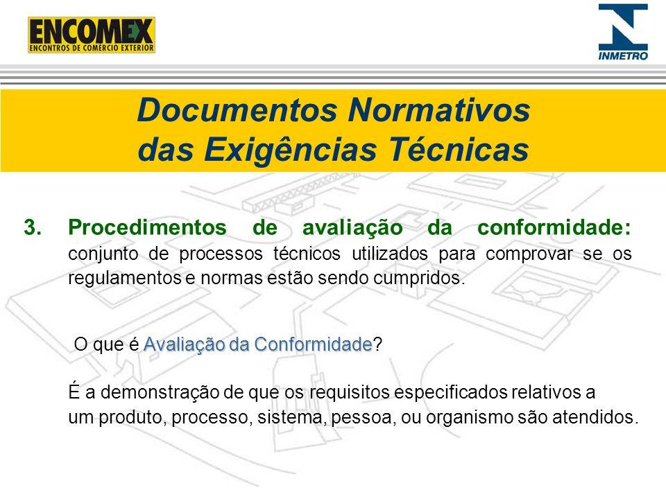 Documentos Normativos das Exigências Técnicas