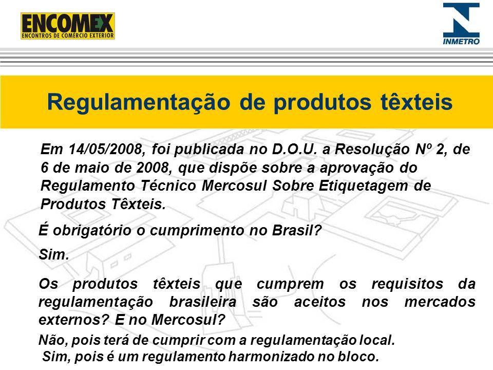 Regulamentação de produtos têxteis