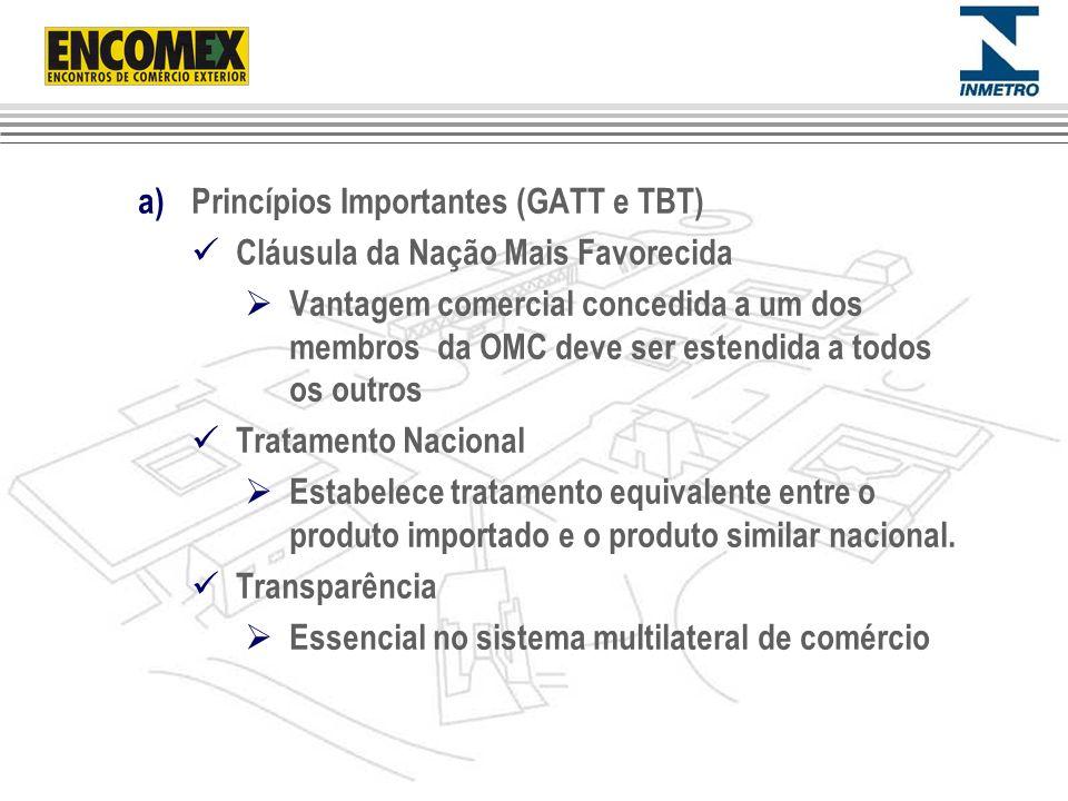 Princípios Importantes (GATT e TBT)